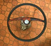Antique Kainer 15 Boat Steering Wheel And Metal Shaft Nautical Maritime