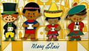 Mary Blair It's A Small World 40th Anniversary Pin Set Of 4 Le 300 Wdi 2006 2