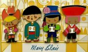 Mary Blair It's A Small World 40th Anniversary Pin Set Of 4 Le 300 Wdi 2006 4