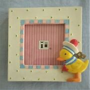 Vintage Mary Engelbreit Resin Mini Picture Frame Wind Up Duck - Rare - Vg