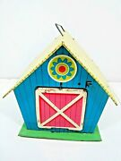 Vintage Ohio Art Tin Litho Toy Farm Barn With Working Open And Close Door
