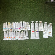 27 Piece Lot Winsor And Newton Artists' Oil Color- Used Paint - Read Below