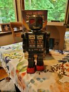 Space Evil Robot Toy Robot Collectables Antique Tin Battery Powered Japan In Box