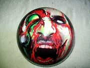 Dv8 Zombie Bowling Ball , Vis A Ball , Scale Weight 13.38 Lb , Nice Un-drilled