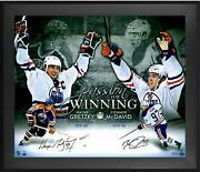 Wayne Gretzky Connor Mcdavid Oilers Frmd Signed 20x24 Passion For Winning Photo