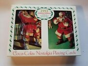 1993 Limited Edition Nostalgia Coca Cola Playing Cards In Collectible Tin
