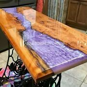 Special Pink River Epoxy Table Light Table Acacia Epoxy Table Dining Table Top