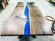 Epoxy Table Dining Sofa Center Table Acacia Wooden Olive Table Custom Order
