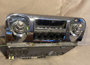 Vintage 1950andrsquos Chevy Tube Pushbutton Am Radio Complete W/ Bezel And Knobs Ex++