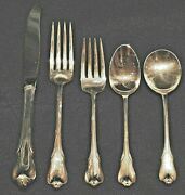Wallace Grand Colonial Sterling Flatware Set For 4 By 5 Total 20 Pcs. With Soups