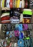 Vtg To Now Huge Jewelry Lot Bangle Bracelet Chunky Plastic Stackable Costume