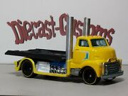 Hot Wheels And03951 Ford Coe ⭐👀@📷⭐ Flatbed Hauler Custom Sliding Deck And Rrand039s