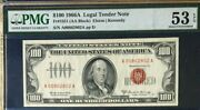 1966a 100 Pmg53 Epq About Uncirculated Legal Tender Us Note Rare Elston/kennedy