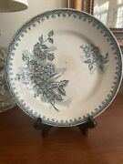 Antique French Transferware St. Amand Margot Plate, 8 3/4 Inches