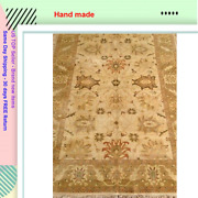 Indian Serape Hand Made Antique Gold Washed Rug 6 X 9