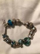 Michael Hill Pandora Charm Bracelet With Charms Sterling Silver
