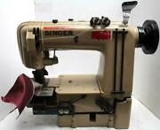 Singer 302w201 Needle Feed 2-needle 1-1/4 Chainstitch Industrial Sewing Machine