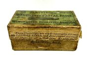 Extremely Rare First Run 1870's Antique Winchester 32 Cal. Rifle Cartridge Box