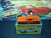 Very Rare Matchbox Lesneyno 8 Mustang Fast Back In Orange With Rare F Box