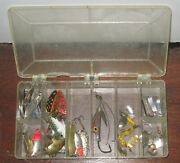 Fishing Lures - Buoyant, Super Duper, Kastmaster - 37 Pcs And Plastic Tackle Box