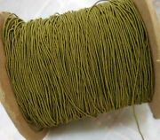 20 Yards Antique Silk Wrapped Rattail Soutache Tiny 1/16 In. Moss Green Trim