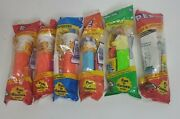 Lot Of 6 Vtg Garfield Pez Dispensers / Candy Dispensers Sealed New In Package