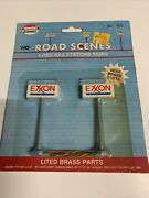 Model Power Ho Scale Lited Lighted Gas Station Signs Exxon 705