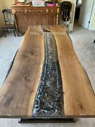 River Style Epoxy Resin Acacia Wood Dinning Table Top Epoxy Table Top Sofa Table