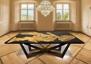 Epoxy Dining Custom Resin Table Top Home And Office Furniture Resin Live Edge Deco