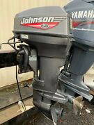 1999 Johnson 50hp Outboard Engine 2 Stroke 20 Shaft - Needs Carb Repair