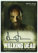 The Walking Dead Season 3 Part 1 Autograph Card A1 Andrew Lincoln As Rick Grimes