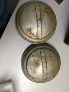 Vintage Ford Dog Dish Hubcaps Pair 1940s 1950s B43
