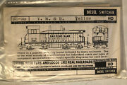Vintage 92-76 T H And B Yellow 1957 Model Train Decals