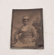 African American Mammy Photographic Portrait Wd2 Tintype Ferrotype 1870s