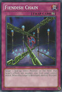 Yugioh-1x-lightly Played-fiendish Chain - Sdwa-en036 - Common - 1st Edition-sd