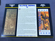 Willabee And Ward 22kt Gold Super Bowl Tickets Super Bowl V