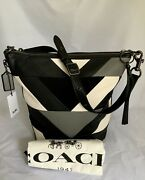 Coach 38782 Mixed Leather Patchwork Duffle V5/black Multi New See Note