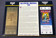 Willabee And Ward 22kt Gold Super Bowl Tickets Super Bowl Xi