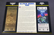 Willabee And Ward 22kt Gold Super Bowl Tickets Super Bowl Xiii