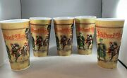 Medieval Times Dinner And Tournament 16 Oz Plastic Drinking Cups Holographic Lot 5