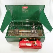 Coleman 413g Duel Burner Camp Stove Portable Outdoor Camping Cooking Made In Usa