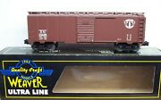 Weaver O Scale Ultra Line B And M Boston And Maine Steel Side Box Car 3 Rail Nos