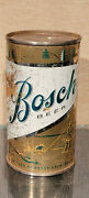 1950s Bosch Steel Flat Top Beer Can Bosch Brewing Houghton Michigan Fishing Dt