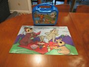Yogi Bear And Boo-boo Bear Jellystone Park Plastic Lunchbox And Placemat Vguc