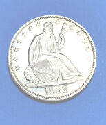 Seated Liberty 1/2 Dollar 1858 Proof T-2 Only 80-100 Known To Exist Today