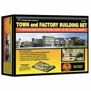 Woodland Scenics 1485 - Town And Factory Building Set - 13 N Scale Kits