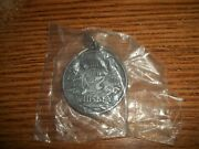 Jack Daniels Old Time Sour Mash No. 7 Whiskey Key Ring Fob Silver Dollar Size