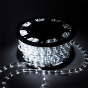 Ainfox 110v 150 Ft. 2 Wire Led Rope Lightschristmas Lights Waterproof Indoor Ou