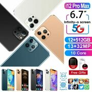 I12 Pro Max 12gb 512gb Android 9.1 10 Core 6.7inch 2021 4800ma Good Gift
