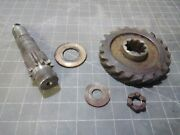 Farmall Cub Ihc Original Steering Bolster Sector Gear With Pin, Nut, And Washer
